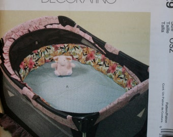 McCalls M5829 Play Pen/Bassinet Bumpers Sewing Pattern New/Uncut