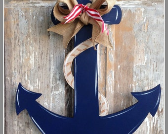 Anchor Door Decor, Wood Art Anchor, Anchor Door Hanger, Anchor Wall Art, Anchor Wall Hanging, Personalized Anchor, Nautical Decor, Nautical