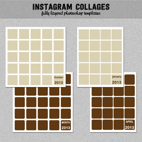 4 Instagram Collage Templates Photoshop Templates Photo