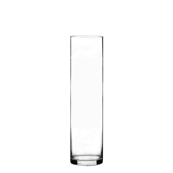 Glass Cylinder Vase 6 Pcs Hand Blown With Height 16