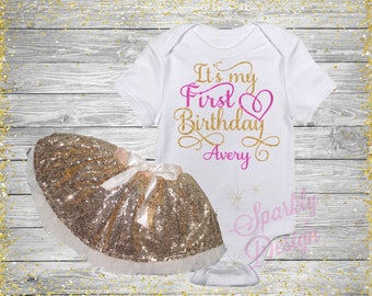 It's My First Birthday! - Sequin Tutu - 1st Birthday Party Outfit