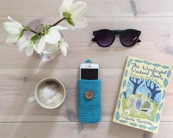 iPhone Case Gadget Protective Holder Handmade Crochet Pouch