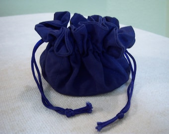 Vintage jewelry travel pouch/Cosmetic travel pouch/Drawstring purse/Vintage accessories