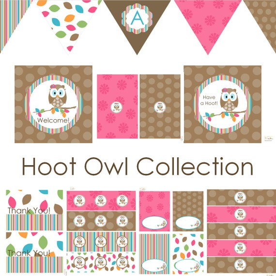 Owl Baby Shower Supplies: Owl Birthday Owl Baby Shower Owl Birthday Decorations Owl