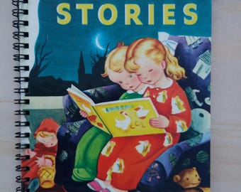 Journal- Bedtime Stories - Made from repurposed Little Golden Book