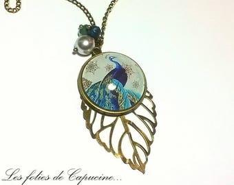 Great necklace cabochon •PAON DE TRIANON•.