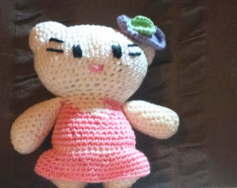 Toy cat made by crochet