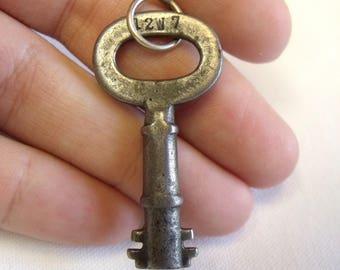 Vintage / Antique Key • Solid Sterling Silver Soldered Jump Ring • Pendant