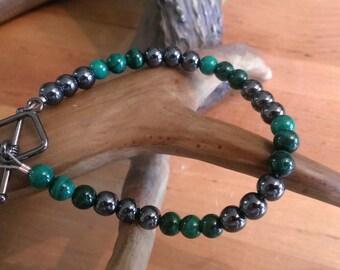 Malachite & Hematite Bracelet