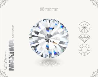 6 pc.+ SS39 (8mm) Preciosa MC Chaton MAXIMA - Crystal Color