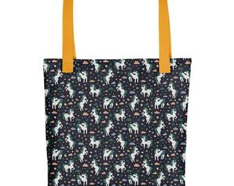 Lost Woods Magic Unicorn Tote Bag | Unicorn Lover Gift | Unicorn Market Bag | Unicorn Birthday Gift for Her | Unicorn Tote Gift for Women
