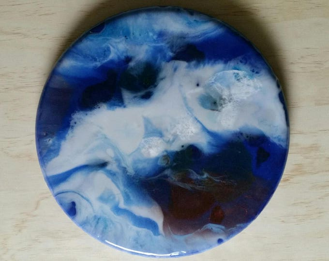 Original Resin painting on board - Gaia -  Inspired by Mineral Photography - Resin Art