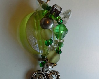 Green jewel drop pendant