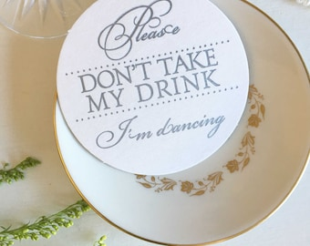 Wedding Coaster Sets, Silver Wedding Coasters, Please Don't Take My Drink Im Dancing, Letterpress Coasters, Wedding Coasters, Silver Coaster