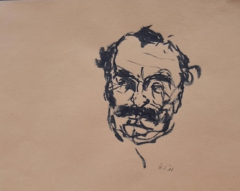 Portrait of a man, study