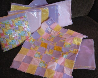 Baby Twin Rag Quilt Kit