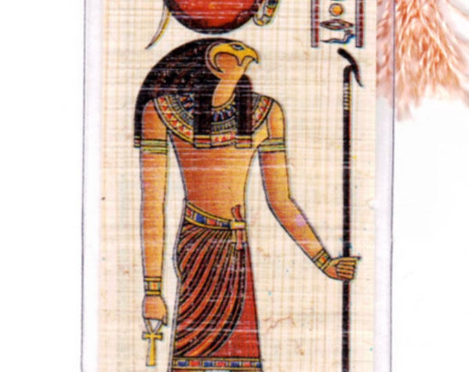 Horus Egyptian God of light and Goodness Papyrus Bookmark. Unique, useful, inexpensive gift for men, women, teachers, kids!