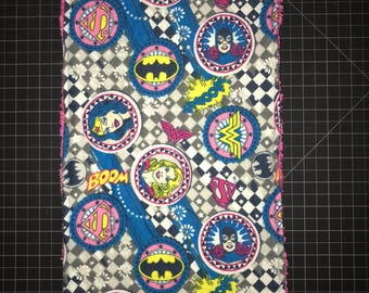 Girl Super Hero Flannel/Chenille Burp Cloths