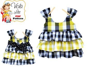Girls Shirt Patterns, Toddler Top Patterns, Toddler Sewing Patterns. Girls Sewing Patterns. Baby Sewing Patterns, pdf Sewing Patterns Nancie