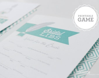 """Printable """"Bridal Libs"""" Game // Choose your color"""