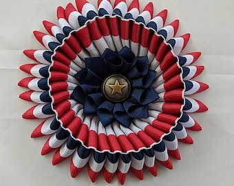 Double Cockade - American Pride  - French Les Mis - Ribbon Rosette