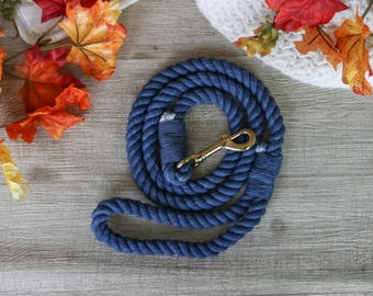 Navy Blue Rope Leash for dogs