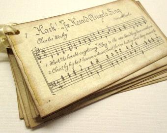 Hark The Herald Angels gift tags, Christmas Tags, Christmas Carol Tag, Music Theme Tag, (8)