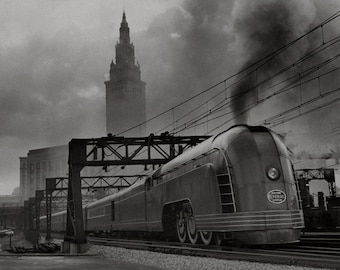 Cleveland - Ohio - 1930s - Vintage - Photo - Photograph - Print - Photography - Art - Home Decor - History - Terminal Tower - Train - Flats