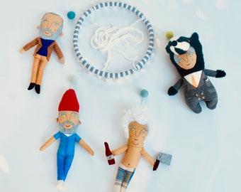 Bill Murray Baby Mobile //  Wes Anderson Fan Nursery Decor //  Quirky Baby Mobile