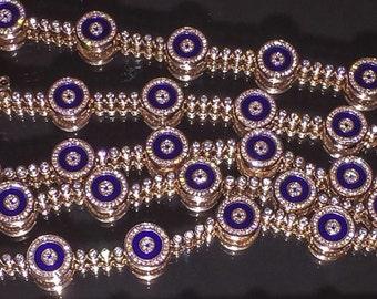 CLARISSE Tennis Bracelet evil eye blue glass rose gold