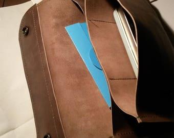 Leather Travel Purse Handmade