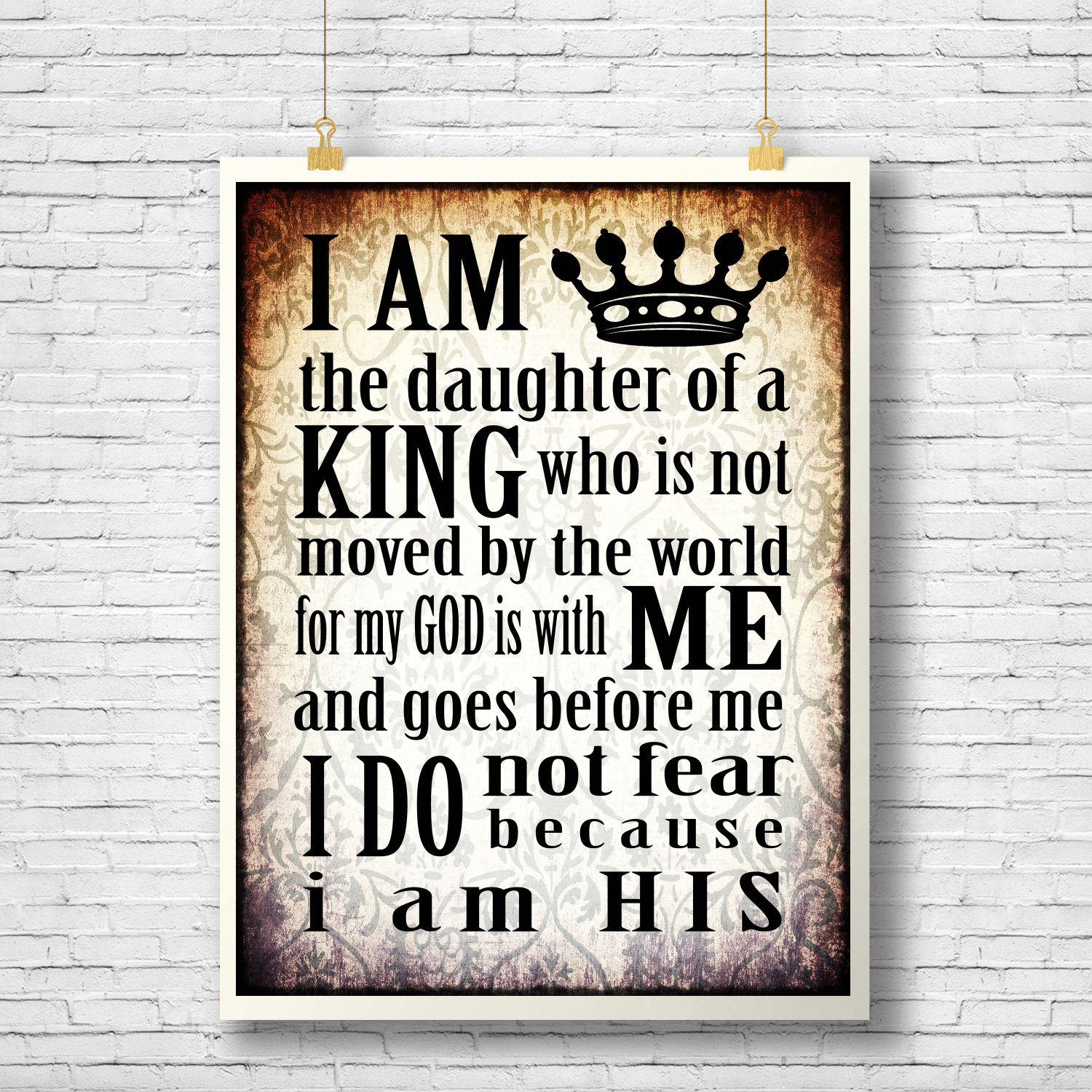 Daughter Of The King Inspirational Quote Printable Scripture