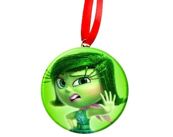 Inside Out Disgust  Christmas Tree Ornament