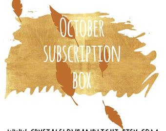 Crystal Subscription Box ~ October ~ Magick ~ Monthly Subscription Box ~ Monthly Crystal box ~ Crystal Gift ~ Crystal Gift set ~ Opal