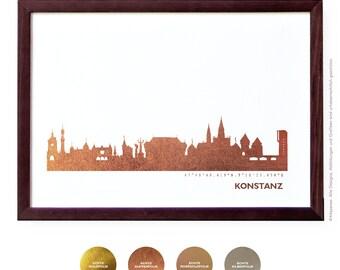 Konstanz Art Print, Konstanz Artwork, Konstanz Decor, Konstanz Poster, Konstanz Wall Art, Konstanz Skyline, Konstanz Gift, Wedding Gift,