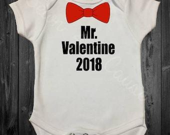 Mr. Valentine 2018 - Valentine's Day - Black, Red, SHIRT or ONESIE