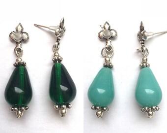Glass Droplet Earrings