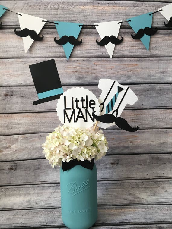 Little Man Centerpiecelittle Man Baby Showerlittle Man