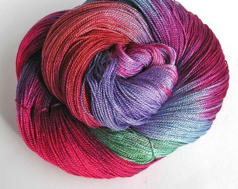 Hand Dyed Rayon Yarn Rayon Lace Yarn 720 Yards Weaving DIY Space Dyed Variegated Colors Soft Shiny Yarn - Cosmo