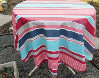 """Round tablecloth.Stain and water resistant. 40"""",50""""60"""" diameter. Easy care"""