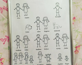 Our family with frame