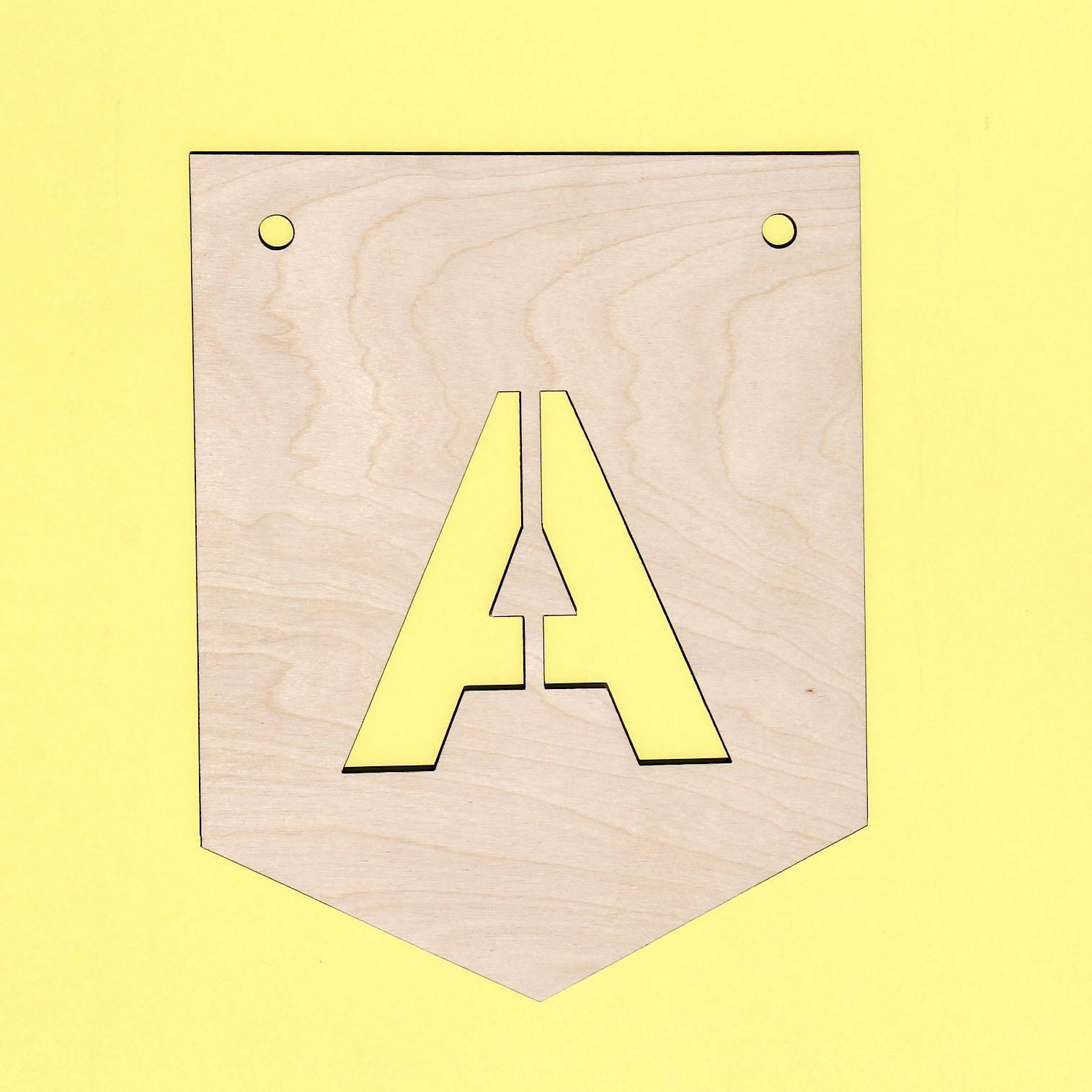 Custom decorative flag / banner letter / wall decor / wooden