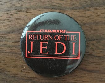 Star Wars Return Of The Jedi Vintage Button Pin Pinback Official Licensed