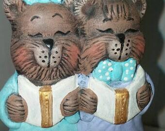 Two Bears Caroling Ornament