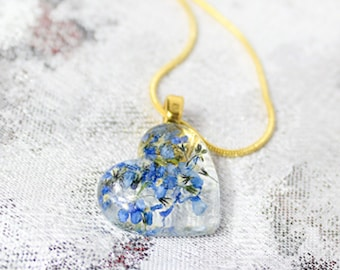 heart pendant statement necklace for wife birthday gift mom blue pendant cute pendant gift girlfriend romantic pendant romantic gifts РЮ10