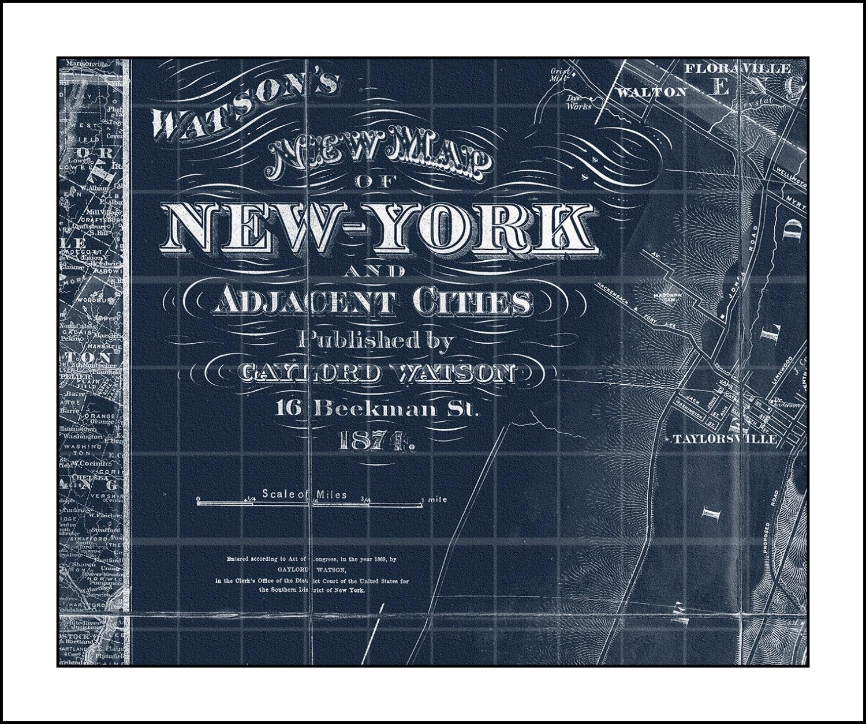 New york map map of new york manhattan map blueprint map zoom malvernweather Gallery