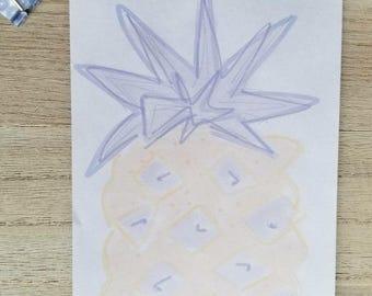 Purple Pinapple Notepad