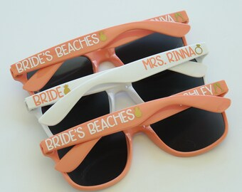 Personalized Sunglasses, Wedding Sunglasses, Bridal Party Sunglasses, Bachelorette Sunglasses, Bachelorette Party Favors