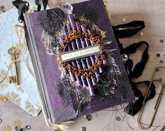 Handmade journal keepsake book gothic spell book