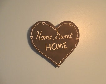 "8"" x 9"" Blank Chalkboard Sign - Heart Sign - Chalkboard Decor - Home Sweet Home - Wedding Chalkboard - Home Sweet Home - Housewarming Gift"